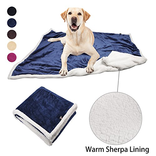 Large Dog Blanket,Super Soft Warm Sherpa Fleece Plush Dog Blankets and Throws for Small Medium Large Dogs Puppy Doggy Pet Cats