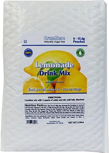 GramZero Stevia Sweetened Sugar Free Drink Mix, Lemonade,...