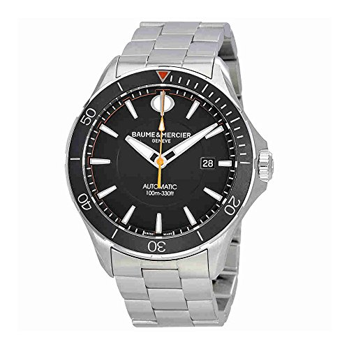 Baume-et-Mercier-Clifton-Black-Dial-Automatic-Mens-Watch-MOA10340