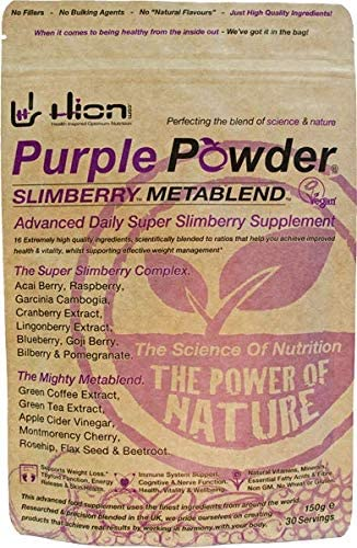 Hion Purple Powder – SLIMBERRY METABLEND 30 Servings Winner of Best Weight Management Supplement – Healthy Awards Vegan, Alkaline and Gluten-Free. Premium Superfood for Weight Management