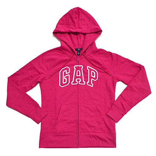 gap-womens-fleece-arch-logo-full-zip-hoodie-magenta-medium