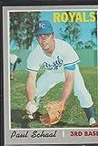 1970 Topps Paul Schaal Royals Baseball Card #338