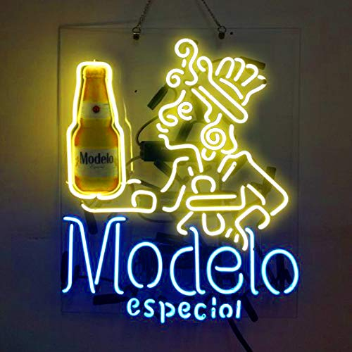 Neon Sign Display - Modelo Especial Beer Bar Pub Store Room Wall Windows Display Neon Signs 19x15