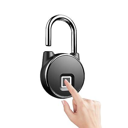Anytek P22 Smart Keyless Fingerprint Lock Ip66 Anti Theft Security Padlock Semiconductor Fingerprint Sensing Technology Automobiles & Motorcycles