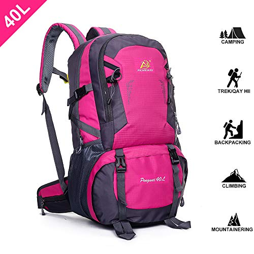 SpringOrchid Camping Hiking Daypacks Backpack – Sports Hiking Rucksack – Outdoor Mountain Climbing Backpack Knapsack – Water Resistant Camping Daypack for Men Women 30L 39L 40L