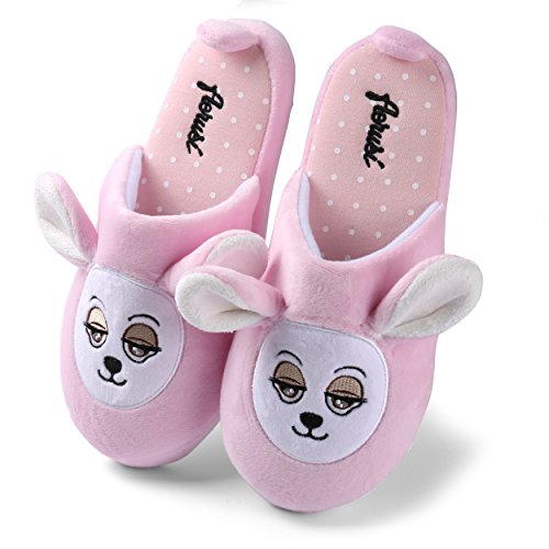 Sleepy Slippers Comfy Slip-On Cute Teddy Bear For Mens Pink t8fPxi