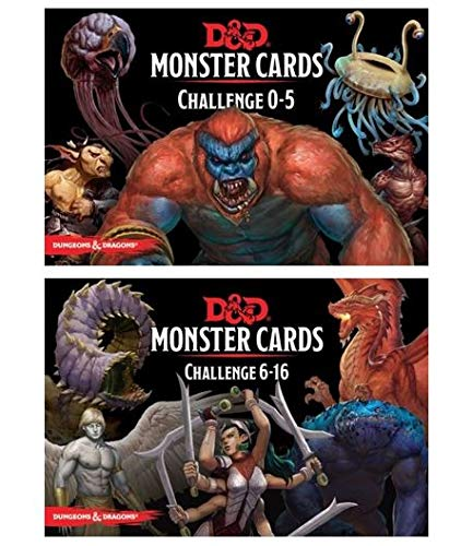image relating to Printable Monster Cards 5e identified as DD: Monster Playing cards 5e Deal Like Monster Playing cards - Issue 0-5 Deck and Situation 6- 16 Deck