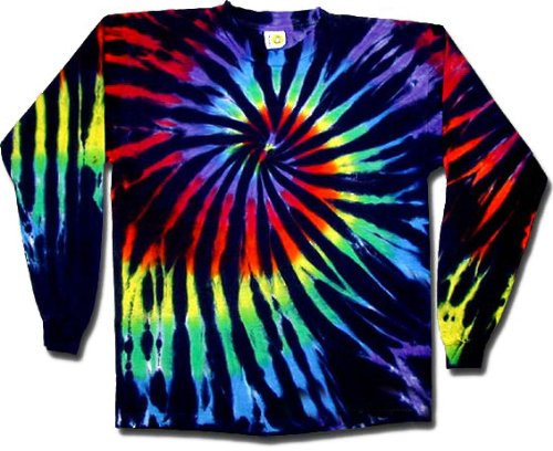 Sundog Stained Glass Swirl Tie Dye T-shirt - Long Sleeve, - Glasses Tie Dye