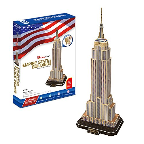CubicFun MC048h-2 US Empire State Building New York World's Great Architectures 3d Puzzle, 66 Pieces