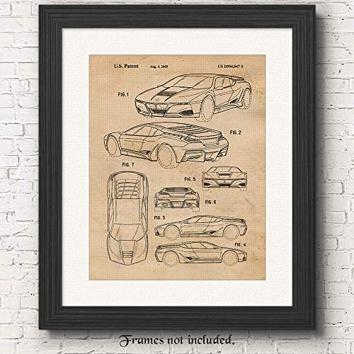 Original BMW M1 Concept Patent Poster Prints- Set of 1 (One 11x14) Unframed Photo- Great Wall Art Decor Gifts Under $15 for Home, Office, Studio, Garage, Shop, Man Cave, Teacher, Cars & Coffee Fan (Concept Car Poster)