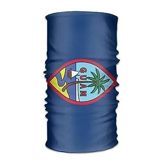 Uosliks Unisex Stylish Guam US Flag Quick Dry Microfiber Headwear Outdoor Magic Bandana Neck Gaiter Head Wrap Headband Scarf Face Mask Ultra Soft Elastic Handscarf