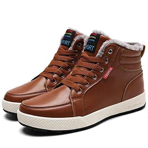 UK6 Shoes Colors Keep Shoes Color Sports 3 CN39 Plate Winter Feifei Men's EU39 Brown Size Leisure Warm 41CZq8v