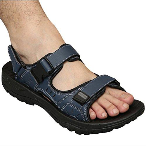 Uomo Blu Sandalo Acqua Sandali da per Spiaggia Estivi Scarpe Sportivi Yiiquan Traspirante Casual da Coreano 6Fq0x1