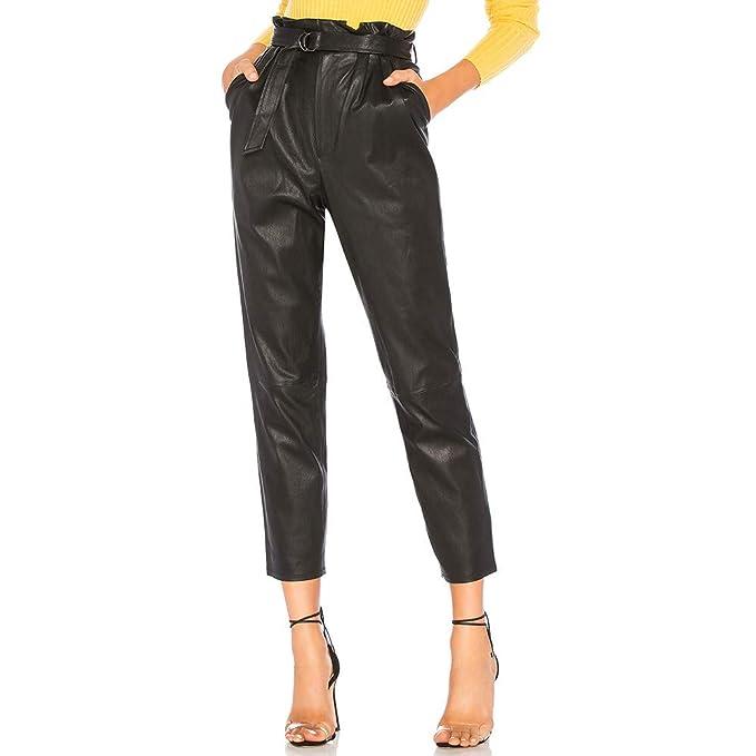 934b2d7692f507 Pantalone a Figura Intera da Donna di Moda per Pantaloni alla Moda in  Pantaloni da Uomo Slim Fit in Pelle: Amazon.it: Abbigliamento