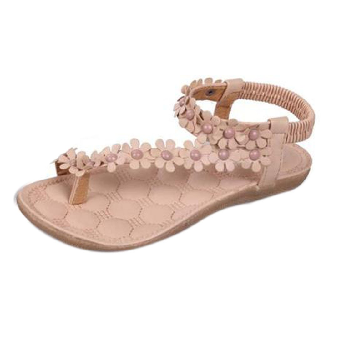Damen Sommer Schuhe Xinan Bouml;hmen Blumen Flip Flop Sandalen  39|??khaki ??