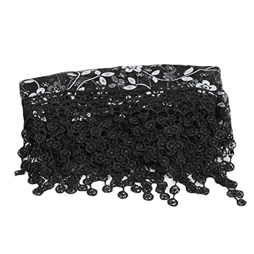 Voberry DIY Newborn Maternity Lace Photography Wrap Baby Photo Props with Headband (Black) -