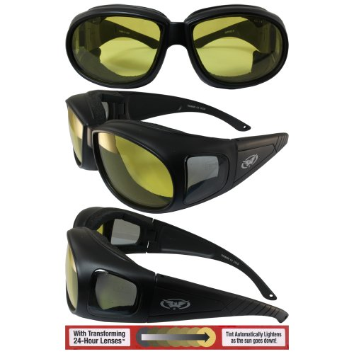 (Global Vision Outfitter Transition Yellow Photochromic Motorcycle Sunglasses)