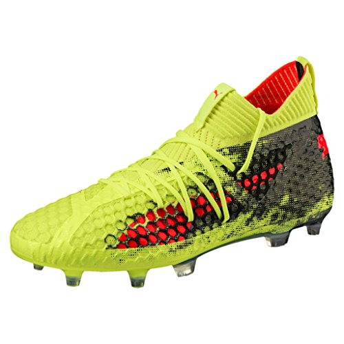 Puma Heren Future 18.1 Netfit Fg / Ag Voetbalcleats Geel - Rood - Zwart
