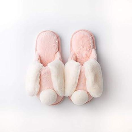 Zoe in autunno e inverno caldo coniglio pantofole di cotone
