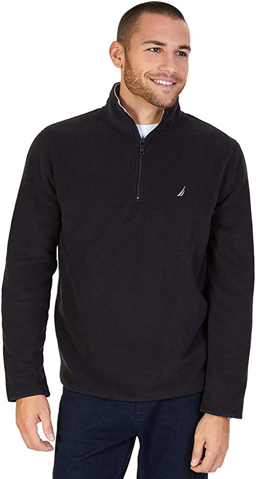 Nautica Mens Long Sleeve Quarter-Zip Sweater Fleece Warm $79.50 XXL Burgundy