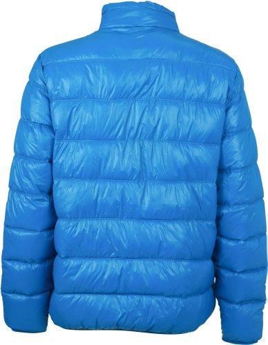 J & N–Inverno giacca piumino da uomo sportivo (jn1064) XXL, Azzurro/Giallo