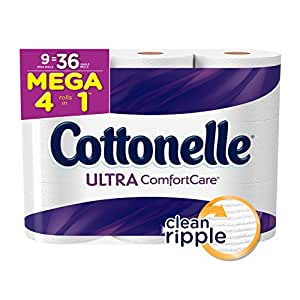 Amazon Com Cottonelle Mega Roll Pack Of 9 Rolls Toilet