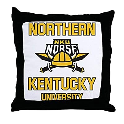 Pattebom Northern Kentucky Nku Norse Soccer Canvas Throw Pillow Covers 18 x 18 Home Decor Farmhouse Throw Pillows Case Cushion Covers Decorative for Gifts
