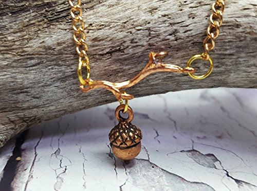 Acorn Necklace ~ Bridesmaid Gift For Rustic Autumn Wedding