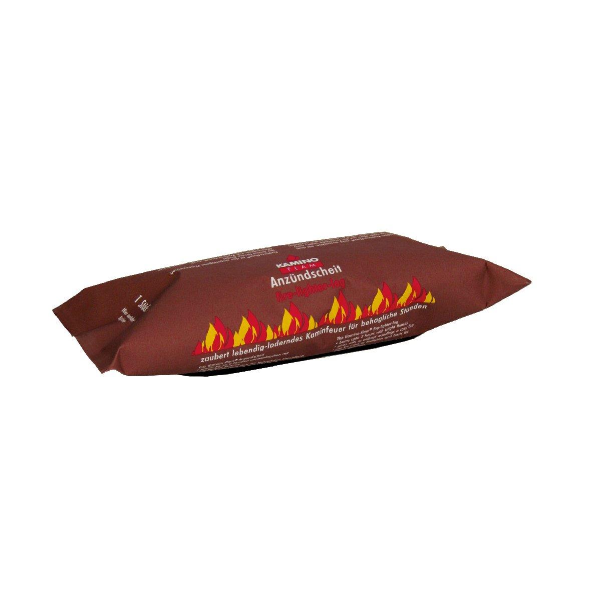 Kamino-Flam 333150 Ceppo Accendifuoco Lunga Durata, Bianco, 23x23x13 cm Kamino - Flam