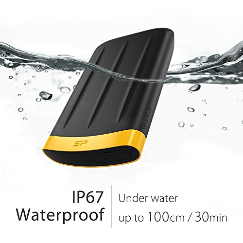 Silicon Power 2TB PS4 Xbox Compatible Type C USB 3.0 Rugged Armor A65 Military-grade Shockproof / IP67 Waterproof & Dustproof Portable External Hard Drive for PC and Mac, 2.5'' by Silicon Power (Image #3)