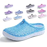 Peregrine Women's Mesh Breathable Sandal Quick-Drying Slippers Beach Slippers Non-Slip Garden Sandals Clogs Mules Shoes Sky Blue 39