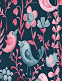 Cute Pink & Blue Birds in the Flowers 2017 Monthly Planner: 16 Month August 2016-December 2017 Academic Calendar with Large 8.5x11 Pages