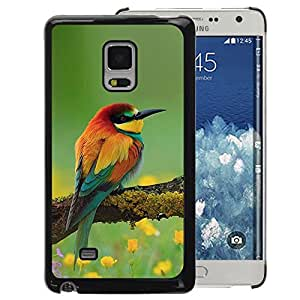 A-type Arte & diseño plástico duro Fundas Cover Cubre Hard Case Cover para Samsung Galaxy Mega 5.8 (Bird Spring Nature Floral Songbird Yellow)