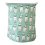 LBgrandspec Stylish Rabbit Alpaca Pattern Cotton Linen Desk Toy Storage Box Laundry Basket Portable Hamper Laundry Basket Storage Basket - 2#