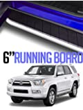 "MPH Auto 6"" Shining Chrome Running Boards Custom Fit 2010-2018 Toyota 4Runner Trail Edition / 2014-2018 SR5 Model / 2015-2018 TRD Pro Model; Side Step Bar (2pcs; with Mounting Brackets) mj-001"