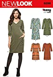 New Look U06298A Misses' Knit Dress Sewing Template