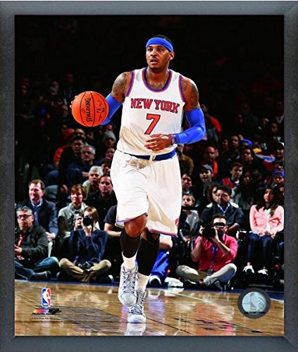 "Carmelo Anthony New York Knicks 2014-2015 NBA Action Photo (Size: 17"" x 21"") Framed"