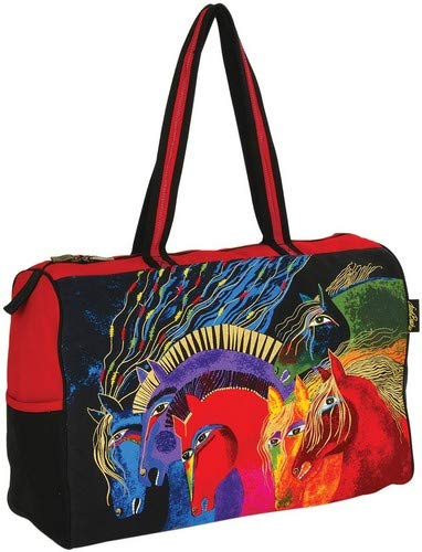 Laurel Burch Travel Bag Zipper Top 21Inch By 8Inch By 15Inch Wild Horses Of Fire