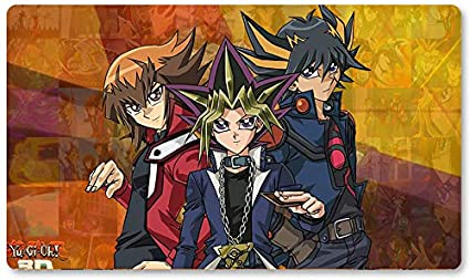 Yu-Gi-Oh! Alfombrilla de juego Yugioh de 10 aniversario 1 – Juego de mesa de 60 x 35 cm alfombrilla de ratón MTG para Yu-Gi-Oh! Pokemon Magic The Gathering: Amazon.es: Oficina y papelería