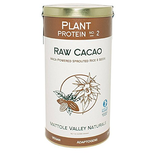 Raw Cacao Plant Protein – Vegan Protein – Organic Biofermented + Raw Sprouted Brown Rice – Contains All Essential Amino Acids (no. 2, raw cacao) Review