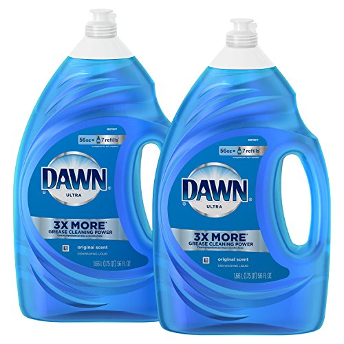 Dawn Ultra Dishwashing Liquid Dish Soap, Original Scent, 2 count, 56 oz. (Dawn Liquid Dish Soap)