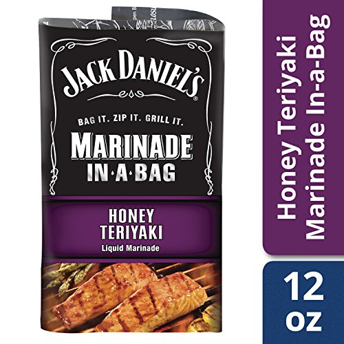 Jack Daniel's Marinade In-A-Bag, Honey Teriyaki, 12 Ounce (Pack of 5) (Marinade Fat Free)