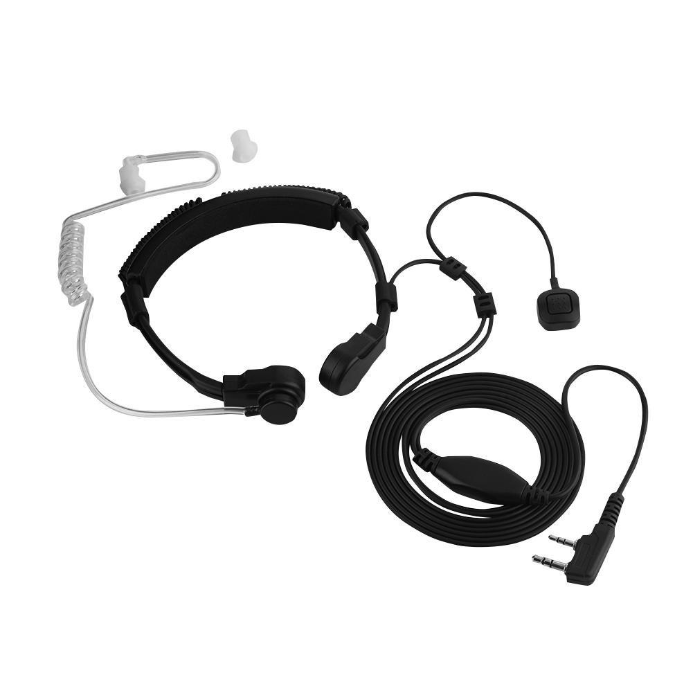 Throat Mic /écouteur Micro Transparent S/écurit/é Earbud Oreillette Tube acoustique doigt PTT Talkie Walkie casque