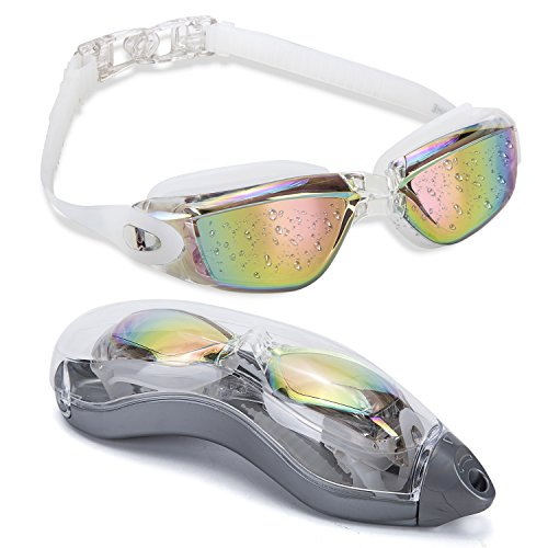 MIGAGA Swim Goggles - Unisex No Leaking Triathlon Swim Glasses For Adult Men Women Youth Kids Child with Free Protection Case,Swimming Goggles with 100% UV Protection,Anti Fog Technology Ultra - Goggles Triathlon Best