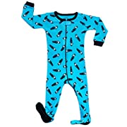 Leveret Kids Police Car Baby Boys Footed Pajamas Sleeper 100% Cotton (Size 6-12 Months)