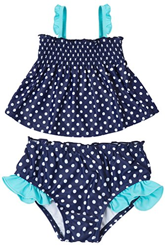 ALove Baby Girls Ruffle Swimsuit Cute Two Piece Polka Dot Swimwear 3T