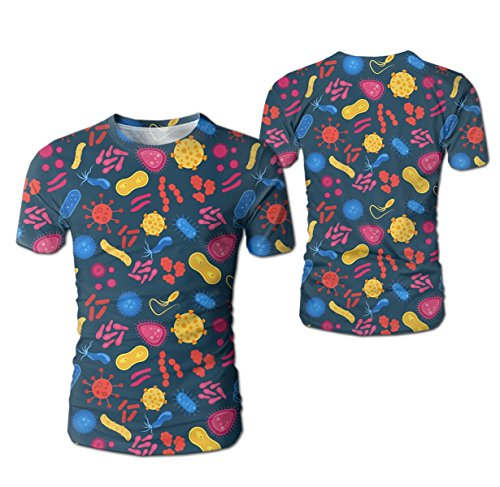 - GlORY ART Virus and Bacteria Bug Boys'3D Printed Casual Short Sleeve T Shirts Top Tees for Teen
