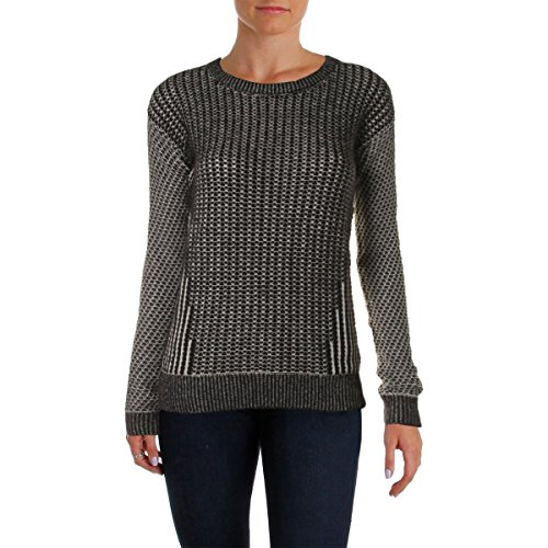 bela.nyc Women's Cashmere Blend Deconstructed Sweater, Black/Multi, Medium