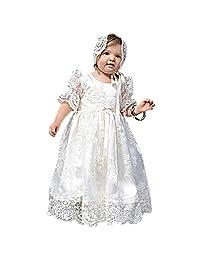 EsTong Newborn Baby Girl Christening Gown Lace Toddler DEDICATION Dress