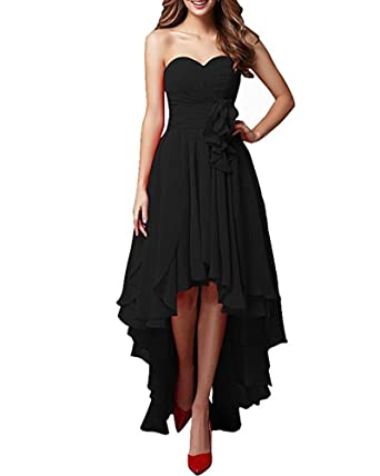 Now And Forever Womens Sweetheart High Low Bridesmaid Dress Ruched